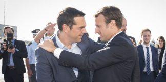 """Μακρόν: """"Η Γαλλία θα στηρίξει την Ελλάδα σε περίπτωση που απειληθεί από την Τουρκία"""""""