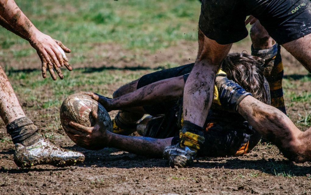 Στιγμιότυπο από αγώνα στο πανελλήνιο τουρνουά Rugby Sevens (Γήπεδο ΔΑΚ Συκεών, Θεσσαλονίκη, 1 Απριλίου 2017)