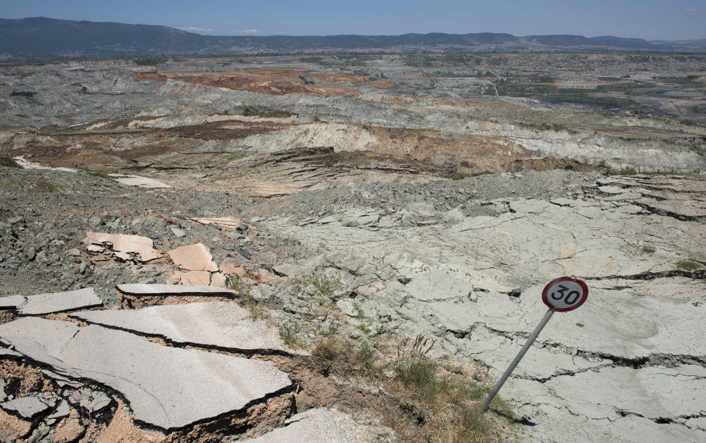Κατολίσθηση στο ορυχείο της ΔΕΗ στο Αμύνταιο Φλώρινας, τον Ιούνιο του 2017