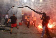 Επίθεση σε σύνδεσμο του Ολυμπιακού στην Καλλιθέα (vd)