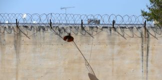 Σε σκαλωσιά στημένη σε σκοπιά σκαρφάλωσαν οι δραπέτες από τις φυλακές Αυλώνα