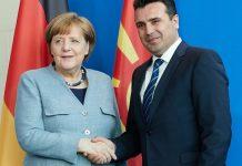Μέρκελ σε Ζάεφ: Καλωσορίζω τον «Μακεδόνα» πρωθυπουργό