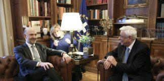 Στην Αθήνα ο Μοσκοβισί - Θα συναντηθεί με Τσίπρα και ΠτΔ