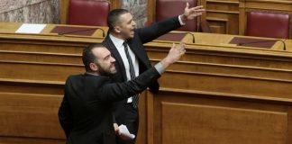 Σόου Κασιδιάρη στο γραφείο του Βούτση: «Η Μακεδονία είναι ελληνική»