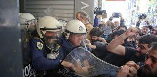 Διαμαρτυρία αστυνομικών για τα επεισόδια σε συμβολαιογραφείο