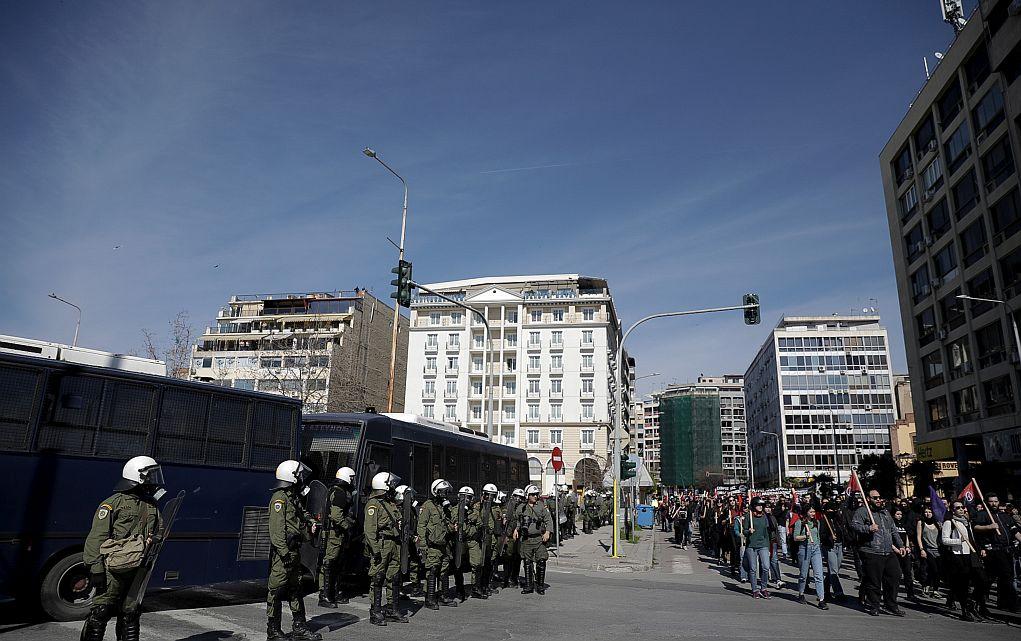 Σε εξέλιξη πανβαλκανική πορεία αντιεξουσιαστών στη Θεσσαλονίκη
