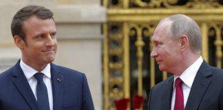 Τηλεφωνική επικοινωνία Μακρόν- Πούτιν για την εκεχειρία στην Συρία