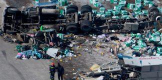 Ισημερινός: Πολύνεκρο μοντέλο με λεωφορείο - 23 νεκροί