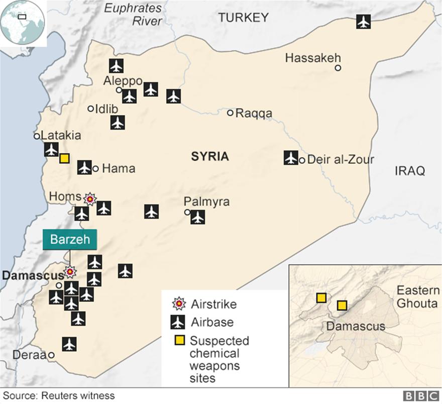 ΗΠΑ, Βρετανία και Γαλλία «χτύπησαν» τη Συρία
