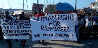 Συνεχίζονται για τρίτη ημέρα οι κινητοποιήσεις των προσφύγων στη Λέσβο