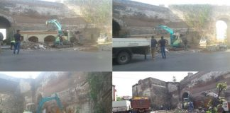 Κατεδαφίστηκε καστρόπληκτη ταβέρνα στην Πορτάρα