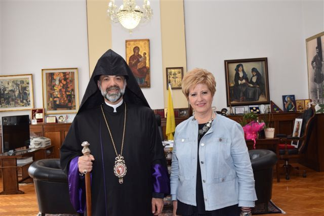 Τον Μητροπολίτη Ορθόδοξων Αρμενίων υποδέχτηκε η Κόλλια-Τσαρουχά
