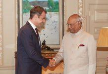 Συνάντηση Κυριάκου Μητσοτάκη με τον ινδό Πρόεδρο