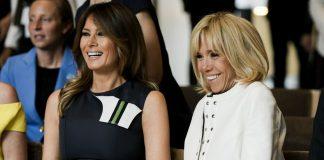 Δίπλα δίπλα Μπριζίτ Μακρόν και Μελάνια Τραμπ σε συναυλία στο Βατερλώ