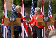 Ο Τραμπ «ανυπομωνεί» για συνεργασία με τη Βρετανία μετά το Brexit
