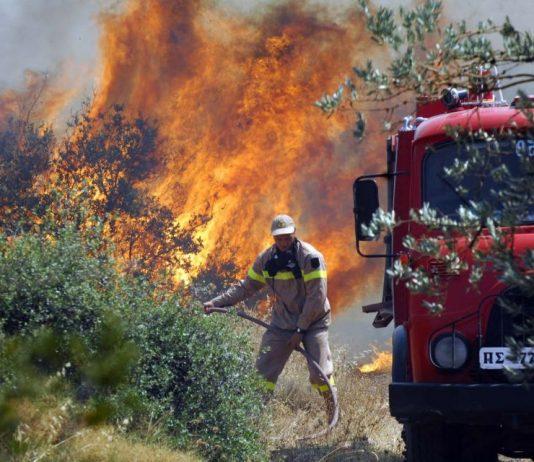 Κερατέα: Πυρκαγιά σε αγροτοδασική έκταση