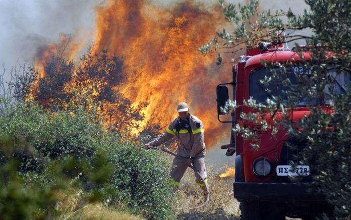 Υπό μερικό έλεγχο η φωτιά στην Κεφαλλονιά