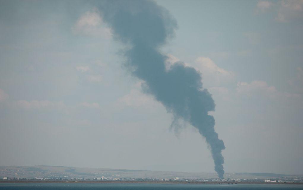 Πυρκαγιά σε αύλειο χώρο εργοστασίου ανακύκλωσης (pics)