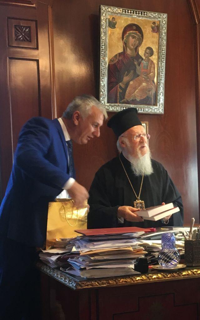 Με τον Πατριάρχη στο Φανάρι ο Βασίλης Ανατολίτης