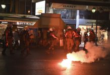 Επτά συλλήψεις για επεισόδια στη Λάρισα