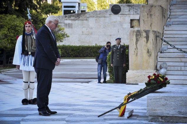 Στον Άγνωστο Στρατιώτη ο γερμανός πρόεδρος