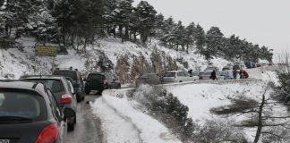Διακοπή κυκλφορίας στη Λεωφ. Πάρνηθας λόγω χιονόπτωσης