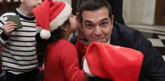 Κάλαντα και χριστουγεννιάτικες ευχές στον Αλέξη Τσίπρα