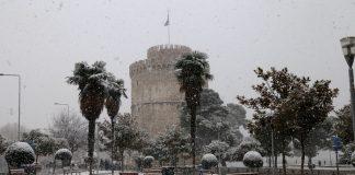 Χιόνια στο κέντρο της Θεσσαλονίκης! (vd)