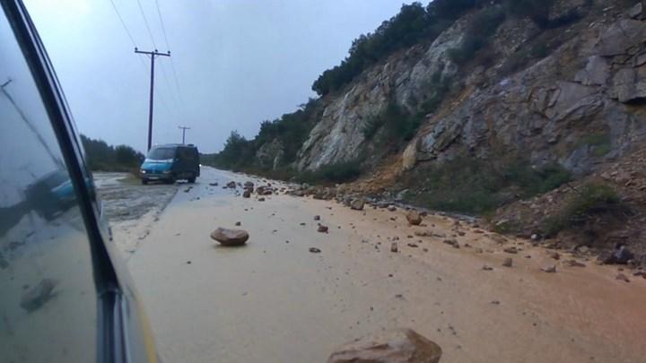 Χαλκιδική: Κατολισθήσεις μετά την σφοδρή βροχόπτωση (vd)