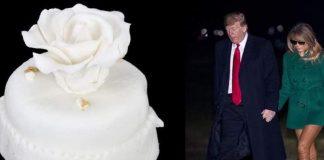 Στο «σφυρί» τούρτα-μινιατούρα από τον γάμο του Τραμπ με τη Μελάνια