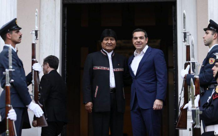 Πρόσκληση στον Αλ. Τσίπρα να επισκεφθεί τη Βολιβία απηύθυνε ο Έβο Μοράλες