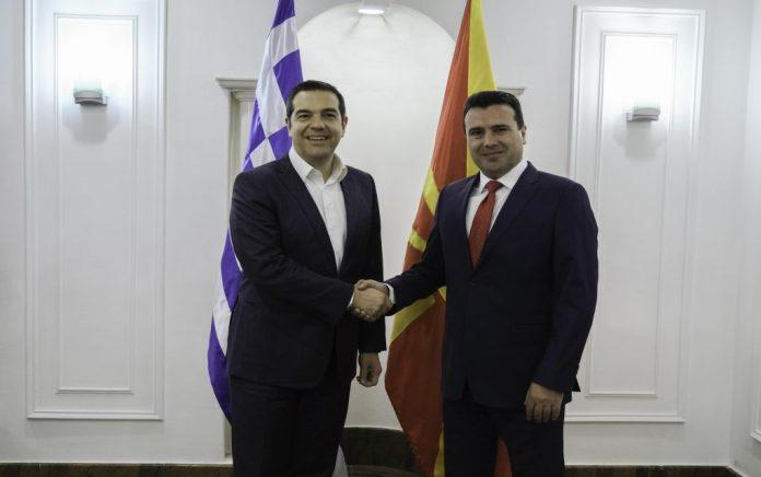 Οι δηλώσεις Τσίπρα - Ζάεφ από τα Σκόπια (vd)