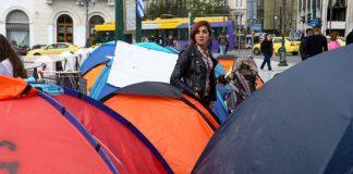 Πρόσφυγες έκαναν το Σύνταγμα… hot spot (pics)