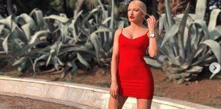 Η Τούνη με στενό κόκκινο φόρεμα, είναι σκέτη... κόλαση! (vd)