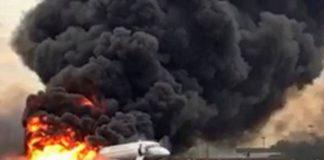 Βίντεο-σοκ από το φλεγόμενο αεροσκάφος στη Μόσχα