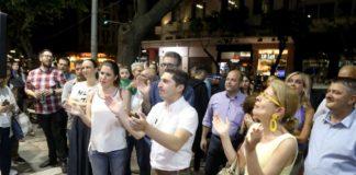 Δ. Θεσσαλονίκης: Άνοιξαν σαμπάνιες στο κέντρο του Ταχιάου (vd)