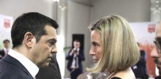 Τσίπρας-Μονγκερίνι για τις κυρώσεις στην Τουρκία