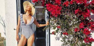 Το ντεκολτέ της Νάντιας Μπουλέ «αναστατώνει» την Αίγινα (pic)