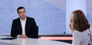 Ο Αλέξης Τσίπρας στο κεντρικό δελτίο ειδήσεων του Open