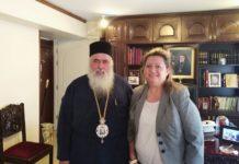 Επίσκεψη Τζαμπαζλή στον Μητροπολίτη Σταυρουπόλεως- Νεαπόλεως Βαρνάβα