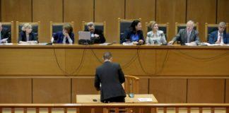 Η Χρυσή Αυγή διώκεται με πολιτική απόφαση, είπε στην απολογία του ο Κασιδιάρης