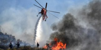 Πυρκαγιά σε δασική έκταση στον Βαρνάβα κοντά σε κατοικημένη περιοχή