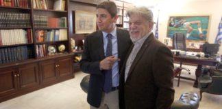 Συνάντηση Λ. Αυγενάκη με τον δήμαρχο Ν.Φιλαδέλφειας, Γ. Βούρο