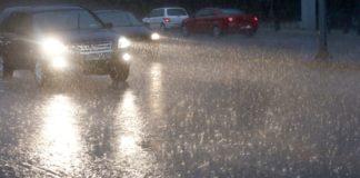 Διακοπή κυκλοφορίας  λόγω  βροχόπτωσης