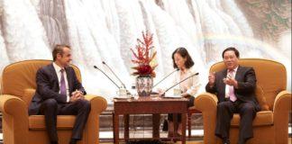Κίνα: Συνάντηση του Κυρ. Μητσοτάκη με τον γγ Σαγκάης του ΚΚ της Κίνας Li Qiang
