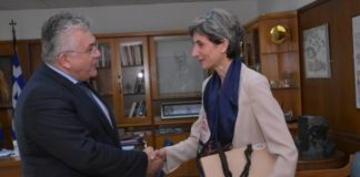 Συνάντηση του πρύτανη ΑΠΘ με την πρέσβειρα της Μεγάλης Βρετανίας
