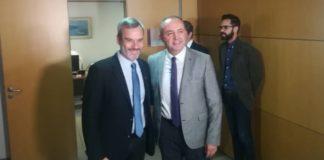 Θεσσαλονίκη: Σε εξέλιξη η συνάντηση Ζέρβα - Καράογλου.