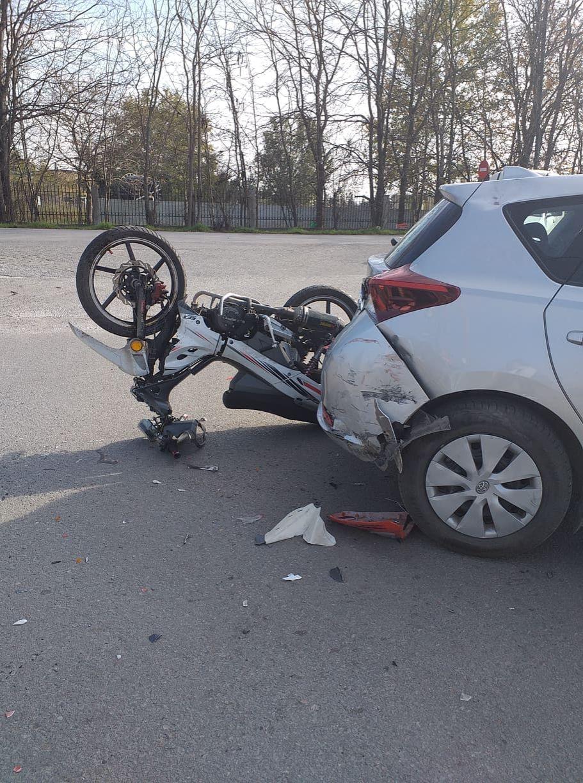 Τροχαίο μοτοσικλετιστή με ΙΧ στη Σίνδο
