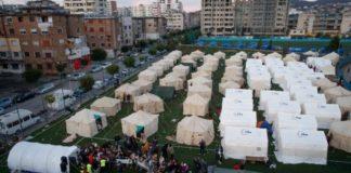 Aνθρωπιστική βοήθεια δεκαπέντε τόνων από την ΠΚM για τους σεισμόπληκτους της Αλβανίας