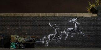Ένας διαφορετικός «Άγιος Βασίλης με τα δώρα» από τον Banksy
